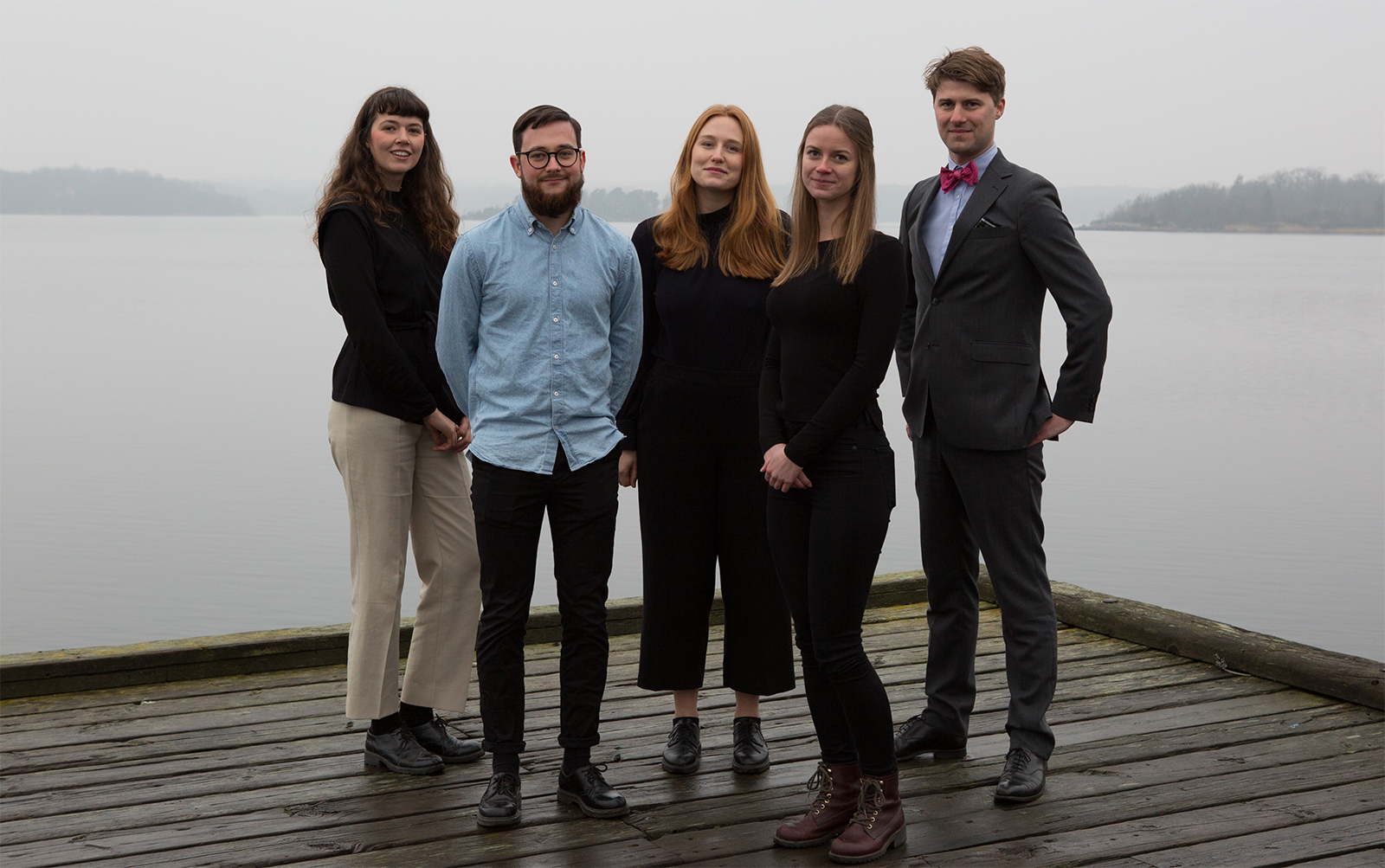 Arkipelago Karlskronas styrelse 2018–2019. Linnea Sundström, John Ljungberg, Nellie Stenvall, Manda Bensköld och August Ekman Öhrn.