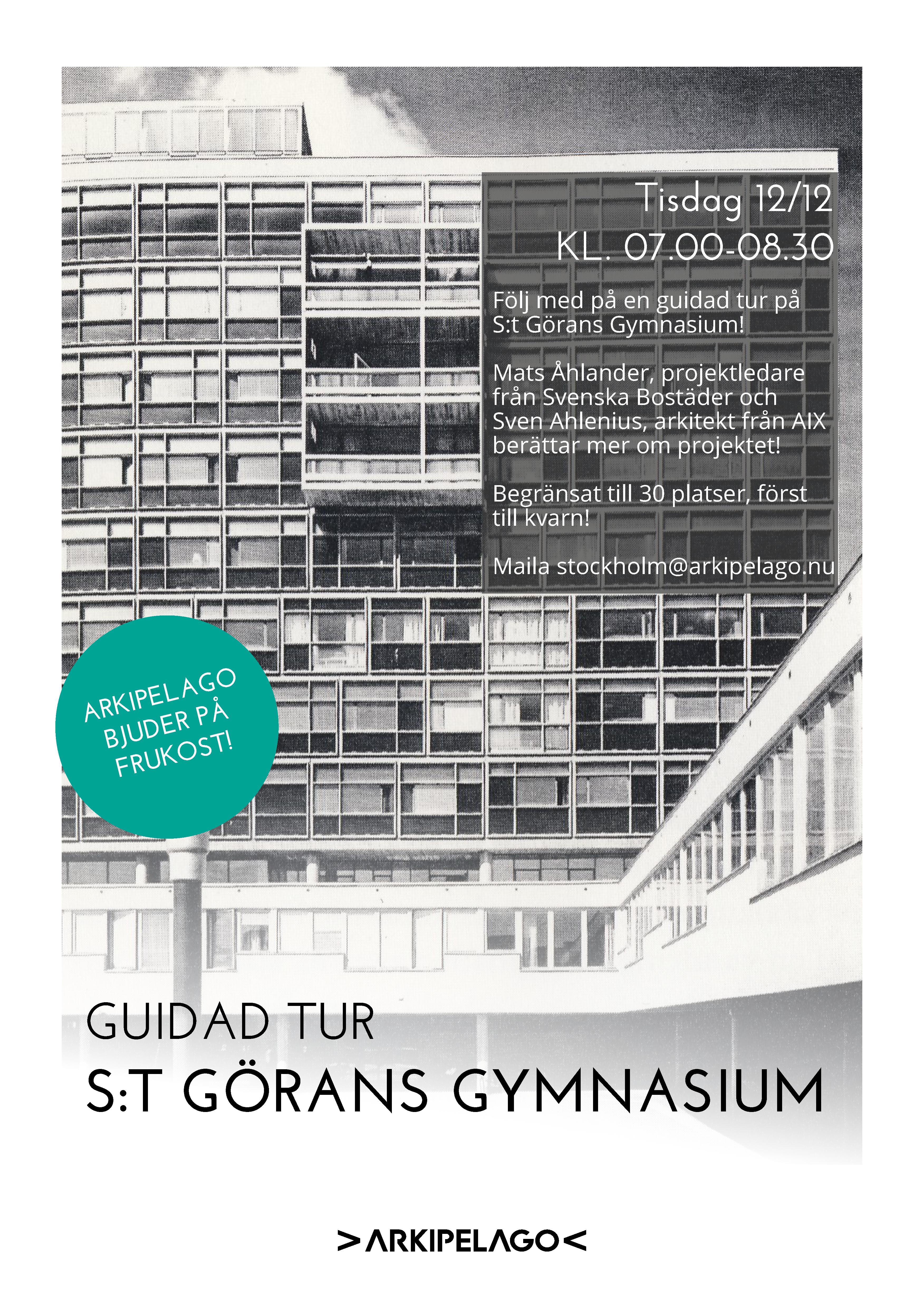 Guidad visning på S:t Görans Gymnasium